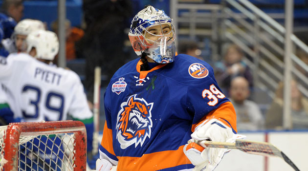 DiPietro spent part of last season in the AHL while still with the Isles. (Getty Images)