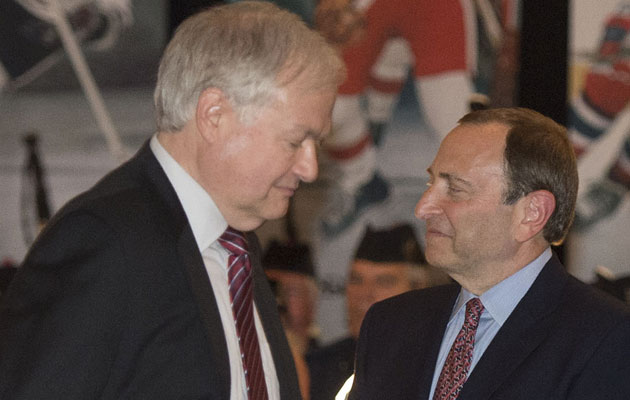 Don Fehr and Gary Bettman carried their lockout over into 2013. (Getty Images)