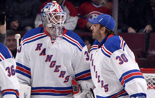 Lundqvist will back up Talbot for a second straight game. (USATSI)