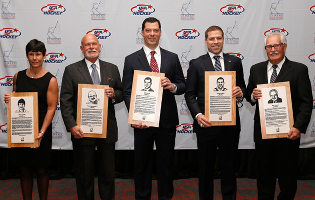 Curley, Karmanos, Guerin, Weight and Mason enter the US Hall. (Getty Images)