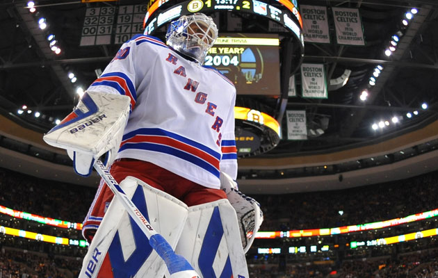 Lundqvist will be towering in the new York nets for a lot longer. (Getty Images)