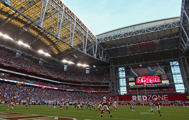University of Phoenix Stadium is next to Jobing.com Arena. (USATSI)