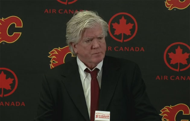 Brian Burke explained the decision to let Feaster go. (Screen grab)