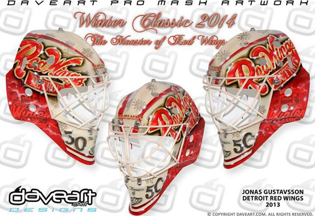 Gustavsson's mask for the Classic. (DaveArt.com/Facebook)