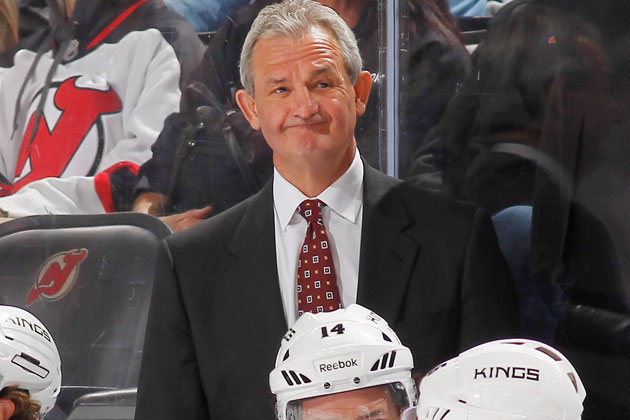 Darryl Sutter doesn't quite see the need for the box anymore. (Getty Images)