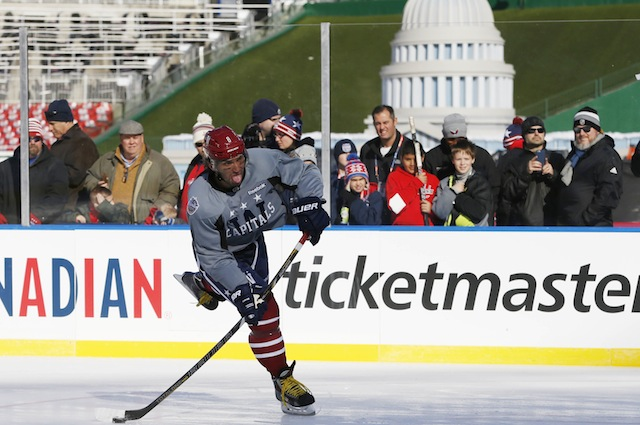 Alex Ovechkin and the Washington Capitals host the Chicago Blackhawks in  the 2015 Winter Classic. 567d6e241c11