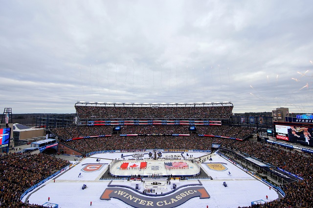 a9700529a Gillette Stadium was a great setting for the 2016 Winter Classic. (USATSI)