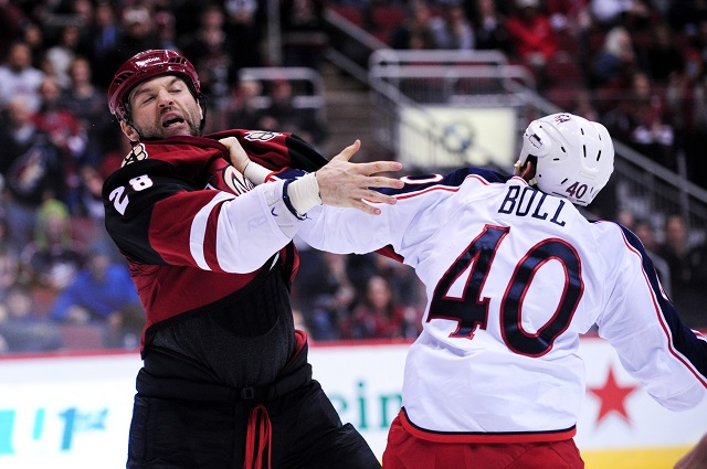 John Scott may not be able to make the All-Star Game again as NHL plans to make changes. (USATSI)