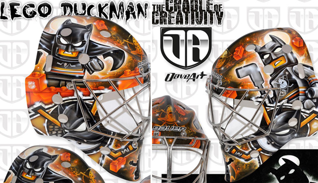 Look Frederik Andersen S New Goalie Mask Features Lego Batman