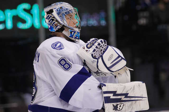 Andrei Vasilevskiy is a member of the Tampa Bay Lightning because of a 2003 fifth-round draft pick. (USATSI)