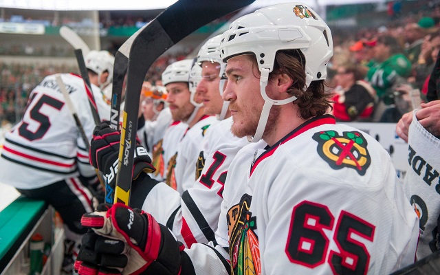 Andrew Shaw has been suspended one game for using a homophobic slur. (USATSI)