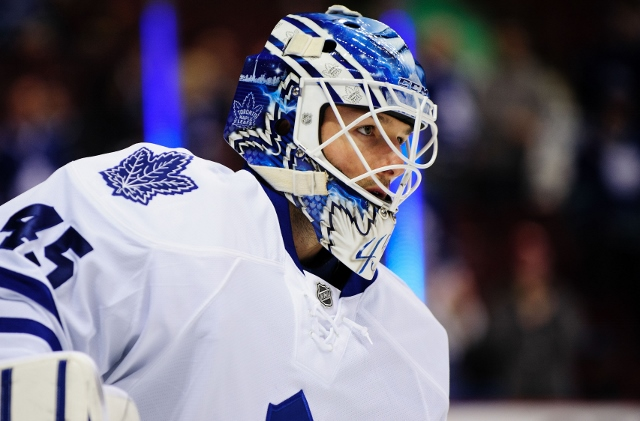 Jonathan Bernier is .500 (47-47-14) in two uneven seasons with the Maple Leafs. (USATSI)