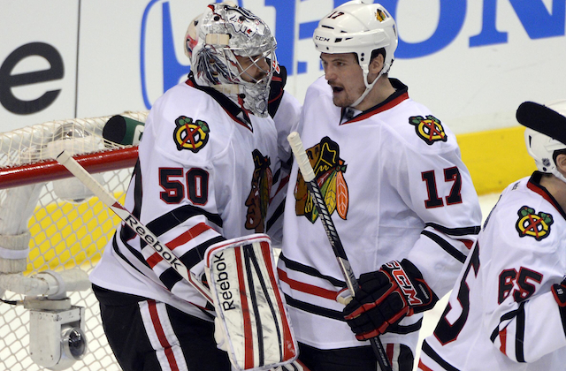 The Chicago Blackhawks still took control even without Duncan Keith in the lineup. (USATSI)