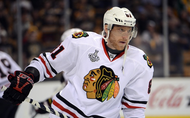 Marian Hossa is one of the best puck possession players in the NHL. (USATSI)