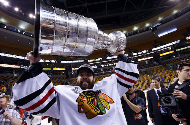 The Chicago Blackhawks decided to thank the city of Boston after their Cup win. (USATSI)