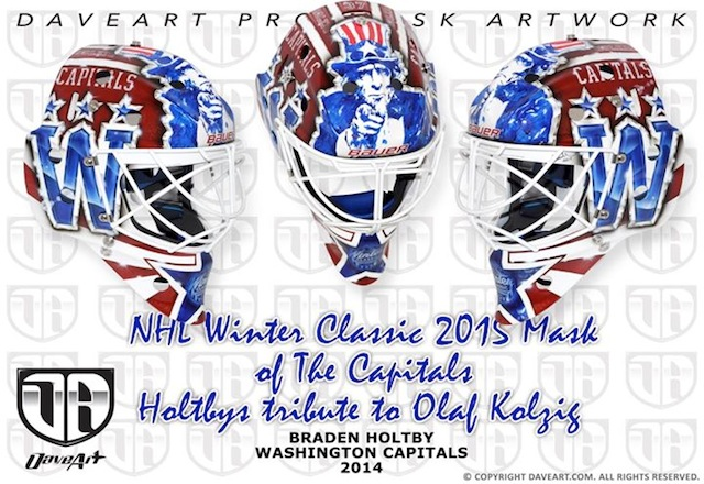Look Check Out Capitals G Braden Holtby S Winter Classic Mask Cbssports Com