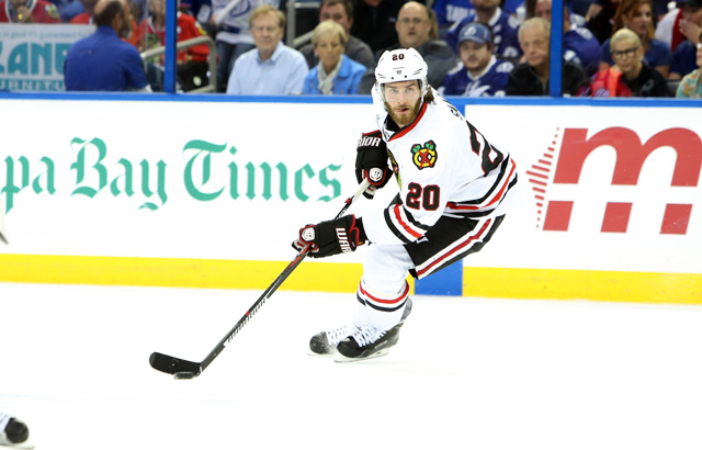 Brandon Saad has been traded to the Blue Jackets, per reports. (USATSI)