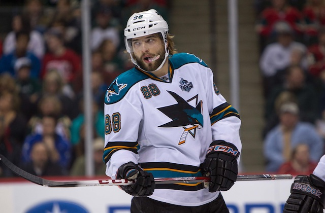 Brent Burns will remain at forward for the San Jose Sharks. (USATSI)