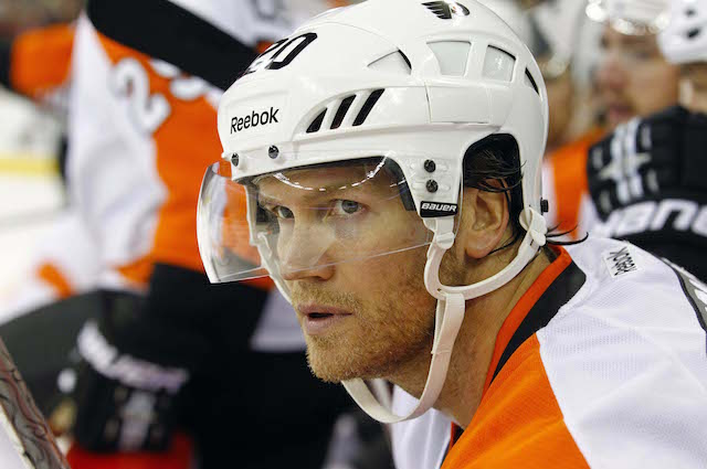 Chris Pronger was actually traded on Saturday. (USATSI)