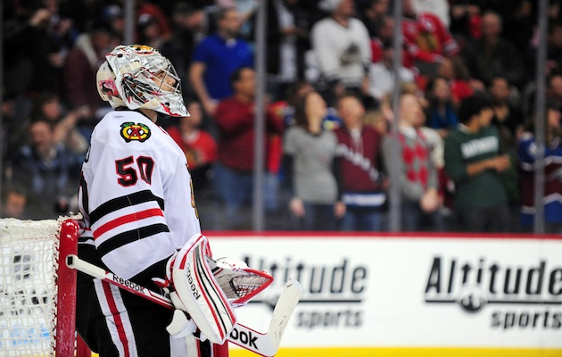 Thanks to the play of Corey Crawford you can cross goaltending off the Blackhawks shopping list. (USATSI)