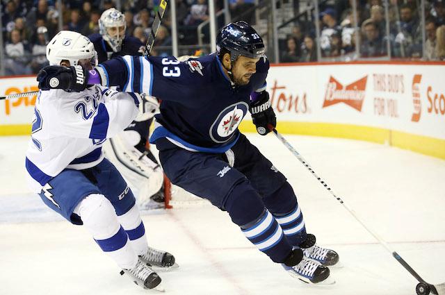 Winnipeg Jets defenseman Dustin Byfuglien is not a fan of 3-on-3 overtime. (USATSI)