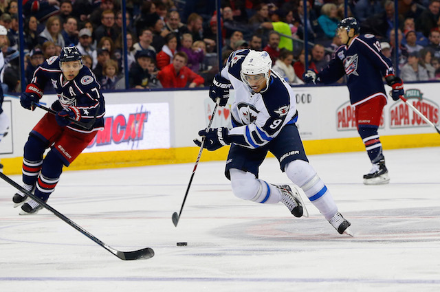 The Winnipeg Jets reportedly benched Evander Kane for a dress code violation. (USATSI)