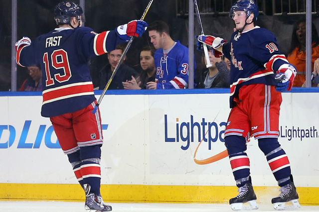 Jesper Fast and J.T. Miller were re-signed to short-term deals by the Rangers. (USATSI)