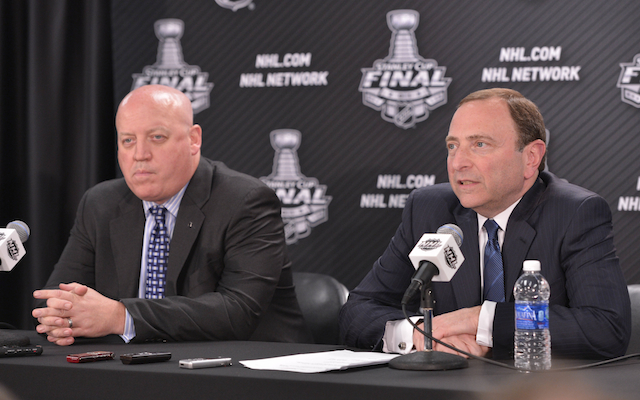Gary Bettman and Bill Daly discussed the state of the league on Wednesday. (USATSI)