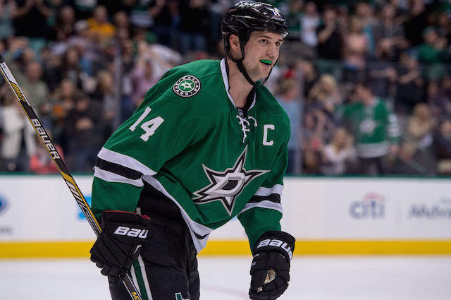 Dallas Stars forward Jamie Benn needed four points to win the Art Ross Trophy. (USATSI)