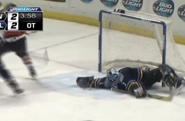 ECHL: Jeff Lerg's Sprawling Save May Be Year's Best (video)