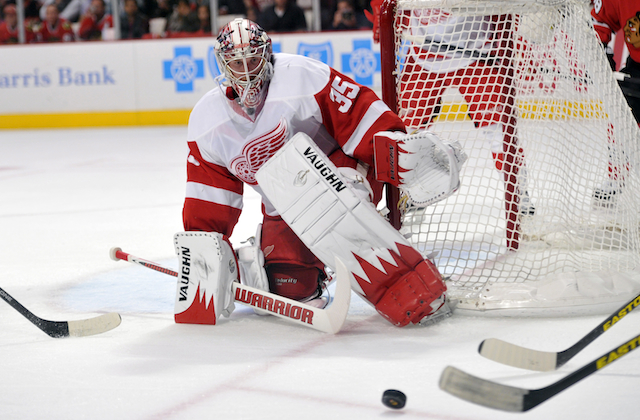 The Red Wings have a chance thanks to Jimmy Howard. Is he enough? (USATSI)
