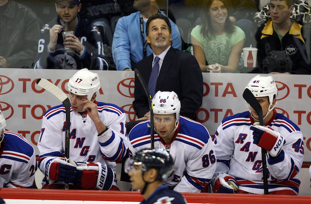 John Tortorella wasn't the only thing holding the Rangers back.(USATSI)