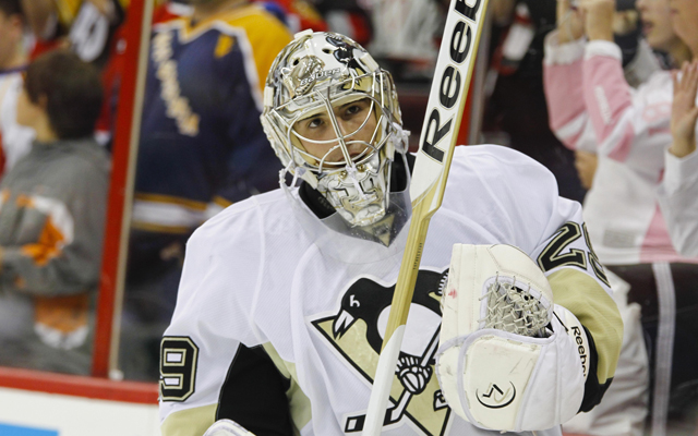 It might be time for the Penguins to sit starting goalie Marc-Andre Fleury. (USATSI)
