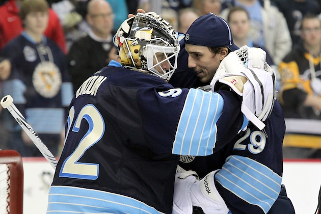 Tomas Vokoun will make a third straight start for the Pittsburgh Penguins on Tuesday night.(USATSI)