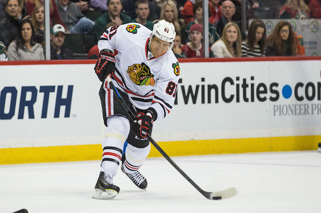 Marian Hossa is back in another Stanley Cup Final for the Chicago Blackhawks. (USATSI)