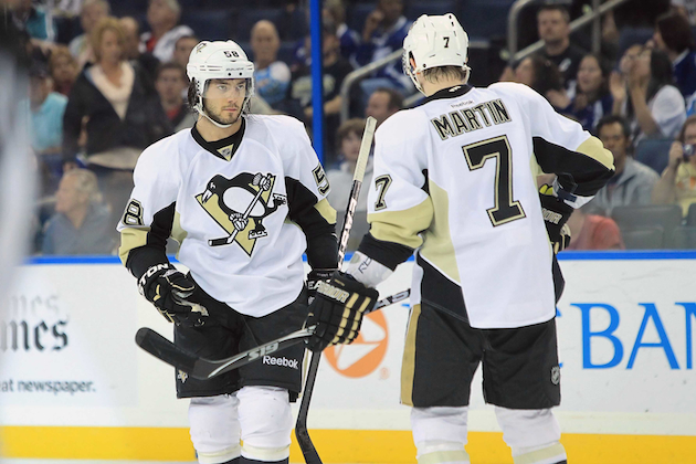 The Pittsburgh Penguins need Kris Letang and Paul Martin to be healthy if they're going to make a run at the Stanley Cup. (USATSI)