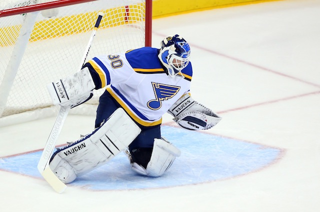 Martin Brodeur Gets First Win As Member Of The St Louis Blues