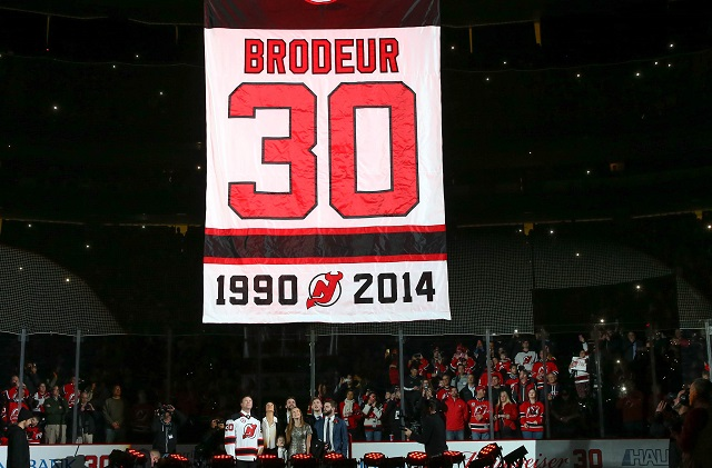 designer fashion 546c6 2fbd5 WATCH: Best moments from Martin Brodeur's jersey retirement ...