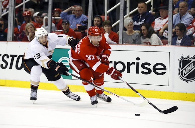 Mikael Samuelsson could be a buyout candidate for the Detroit Red Wings. (USATSI)