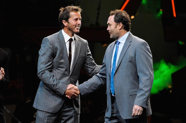 Mike Modano and Ed Belfour will face off in the Stadium Series alumni game. (USATSI)