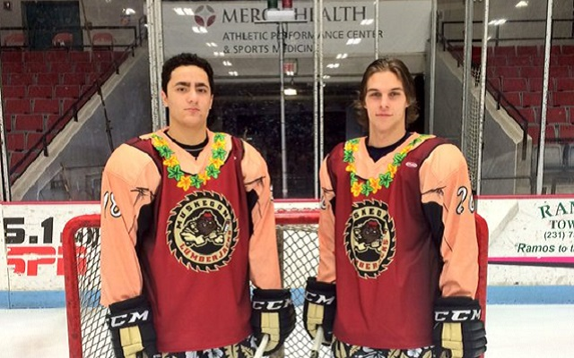 The Muskegon Lumberjacks are celebrating Beach Night with these jerseys.  ( MuskegonJacks) 72d618dcf5d