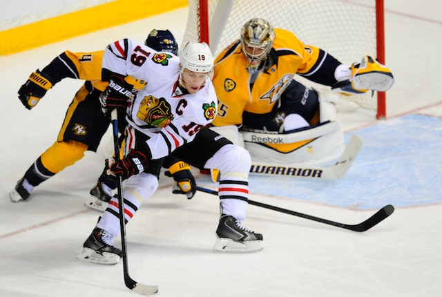 The Chicago Blackhawks and Nashville Predators meet in another big Central Division showdown. (USATSI)