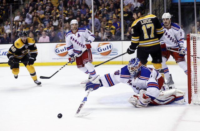 Henrik Lundqvist stopped 45 shots for the Rangers but it wasn't enough. (USATSI)