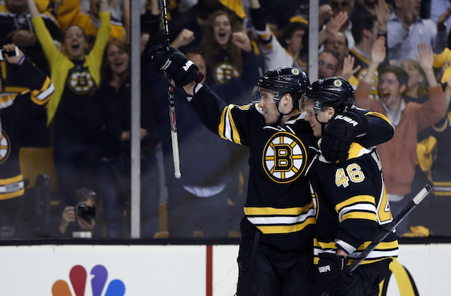 It was all smiles for the Bruins on Wednesday night. (USATSI)