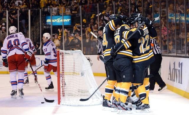 The Boston Bruins are moving on to the Eastern Conference finals after Saturday's win. (USATSI)