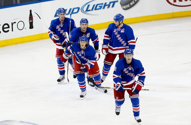 The New York Rangers earned a big win to even their series with Washington. (USATSI)