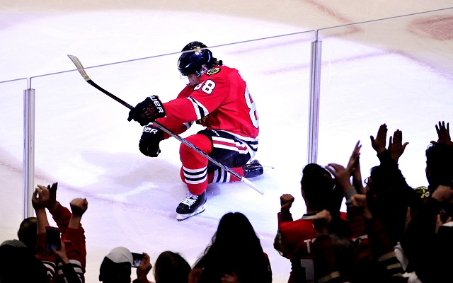 Patrick Kane made NHL history by winning this year's scoring title. (USATSI)
