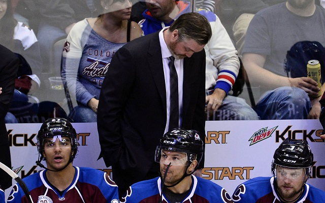 Patrick Roy was none too pleased with Matt Duchene for his goal celebration in a loss. (USATSI)