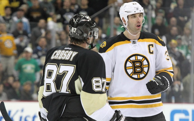 Sidney Crosby and Zdeno Chara will be seeing a lot of each other the next two weeks. (USATSI)