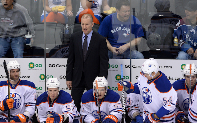 The Edmonton Oilers have fired coach Ralph Krueger after one year. (USATSI)
